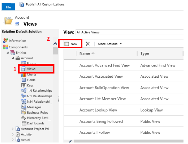 1 1 - System Views and Personal Views in Dynamics CRM/365